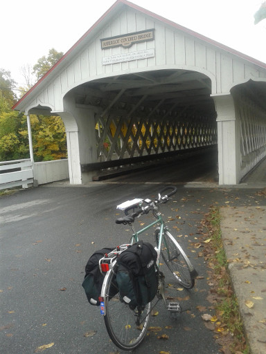 Angela at the Ashuelot Covered Bridge